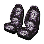 Day of The Dead Mexico Sugar Skull Front Car Seat Covers Set of 2