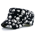 Men Black Cool Skull Baseball Caps Women Cotton Casual Flat Hats Brand Gorras Planas Snapback Adjustable Design Bone
