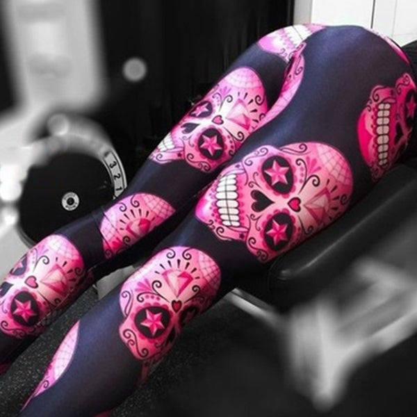 Sugar skull yoga pants leggings