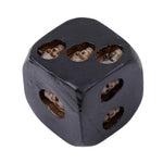 5pcs/set Black Skull Dice Grinning Skull Deluxe Devil Poker Dice Play Game Dice Tower with Death Table Games Travel accessories