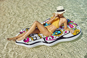 Inflatable Pool Float Giant Sugar Skull Air Lounge Toy Large 72x48x7.87