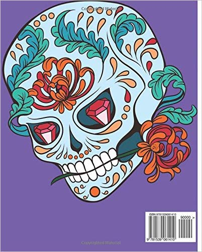 Gothic Coloring Books For Adults: Day Of The Dead Coloring Book (Color –  Awesome Skulls