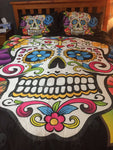 Sugar skulls day of the dead bedding duvet cover