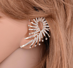 Punk Rock Style Gold Color Earring Luxurious Leaves Ear Cuff Clip Earrings For Women