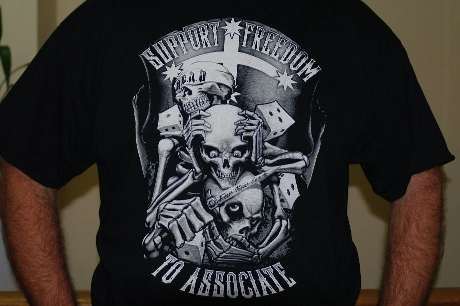 BIKER FREEDOM TO ASSOCIATE NO VLAD T SHIRT