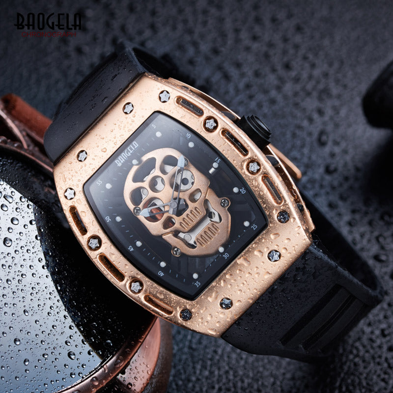 New Arrival Pirate Skull Style Quartz Men Watches Military Silicone Brand Sports Watch Waterproof Relogio Masculino