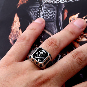 316L Stainless Steel ring  biker Ring skull Man's special copper fashion jewelry  BR8-331