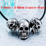 new store 316L Stainless Steel pendant necklace new arrival super punk skull biker pendant  Fashion Jewelry  LLBP8-216R