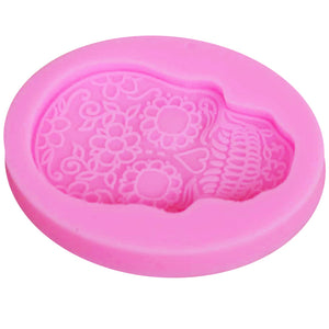Skeleton Head Skull Silicone Mold Candy Jelly Mould Fondant Cake Decorating Pastry Baking Tools