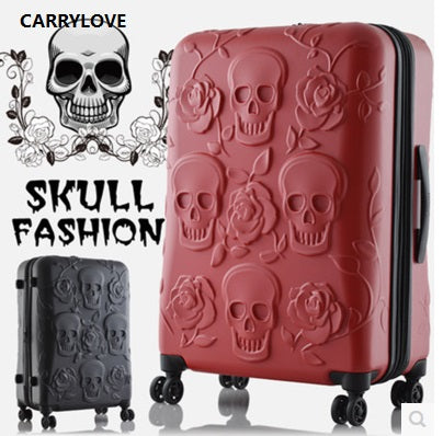 High quality Extra large volume Skull Luggage 19/25/29 inch