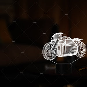 Car Addiction racing car design 3D illusion LED night light gifts for bikers 7 colors boys girl bedroom decor creative gift