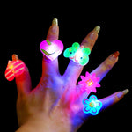 Creative Women Mens Ring Luminous Rings for Children Toy Ring Glow In The Dark Rings Jewelry Party Accessories 10pcs/lot