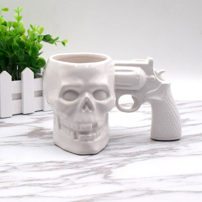 Creative stainless steel skull cup mechanical gear beer glass bar