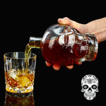Crystal Vodka Skull Head Bottles with Skull Cup 125ML 350ML 550ML 1000ML