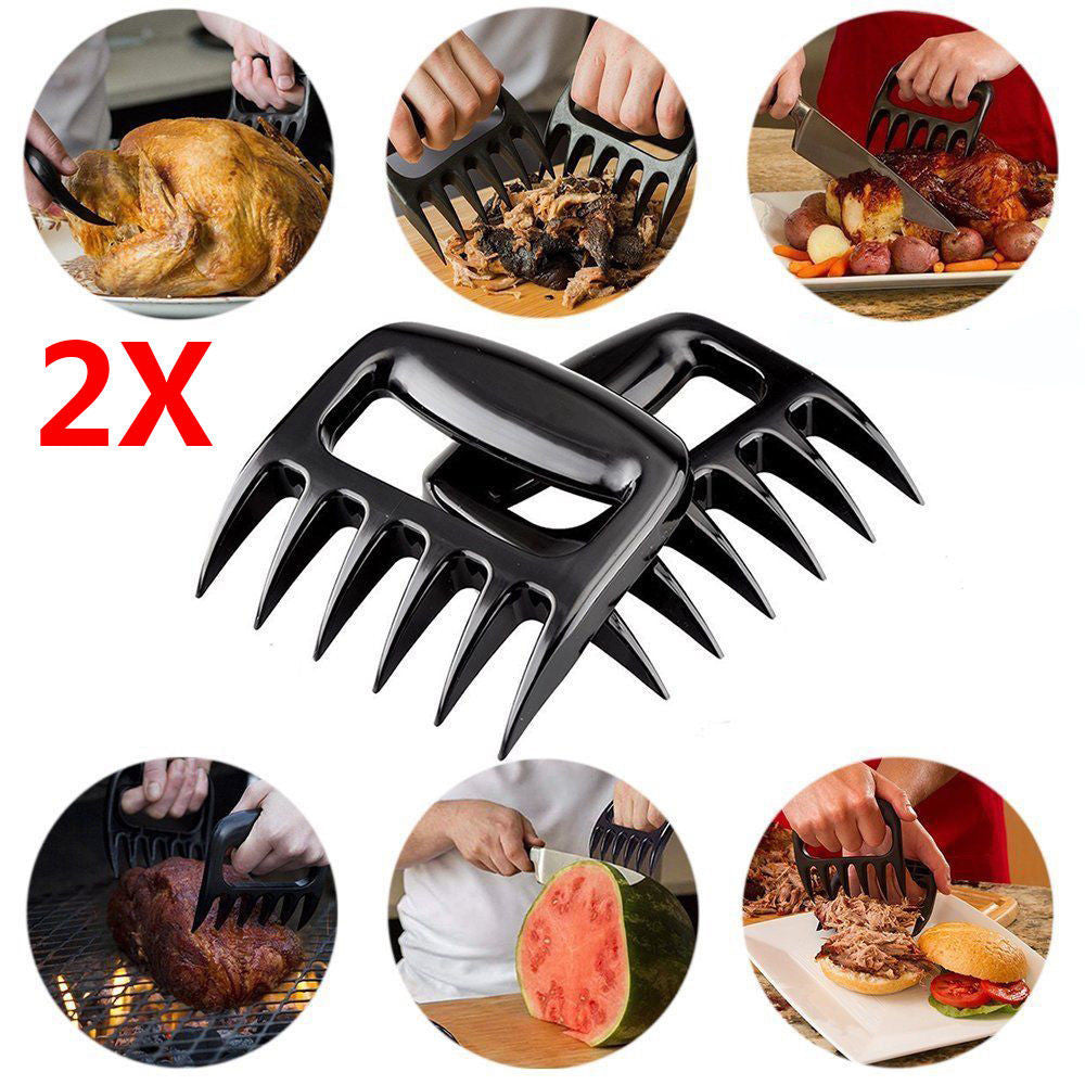 1Pair Bear Paws Claws Meat Handler Forks Tongs Pull Shred Pork Roasting Fork Barbecue Accessories Garden Hand Tools Fork