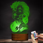 100 pcs Day Of The Dead 0 Girl Sugar Skull LED Table Lamp