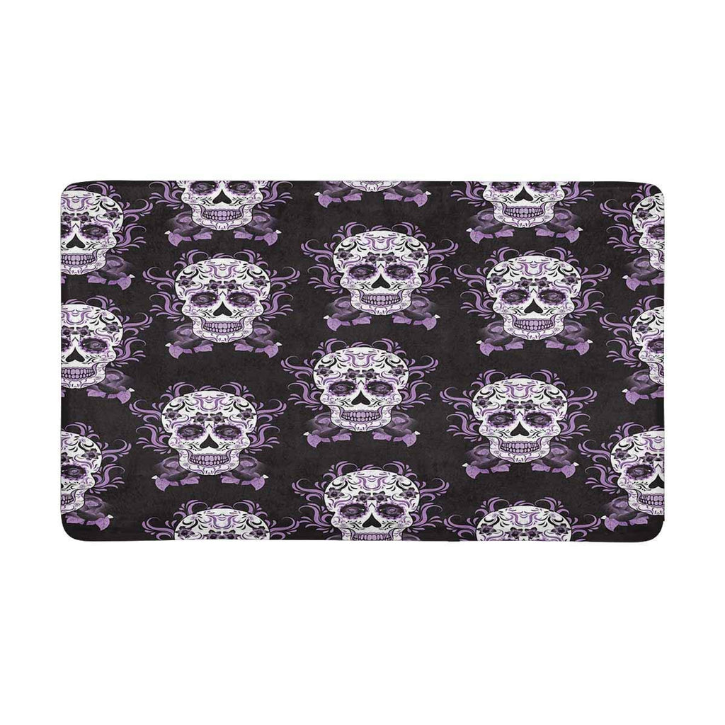 Day of The Dead Festival in Mexico Sugar Skull Indoor Doormat