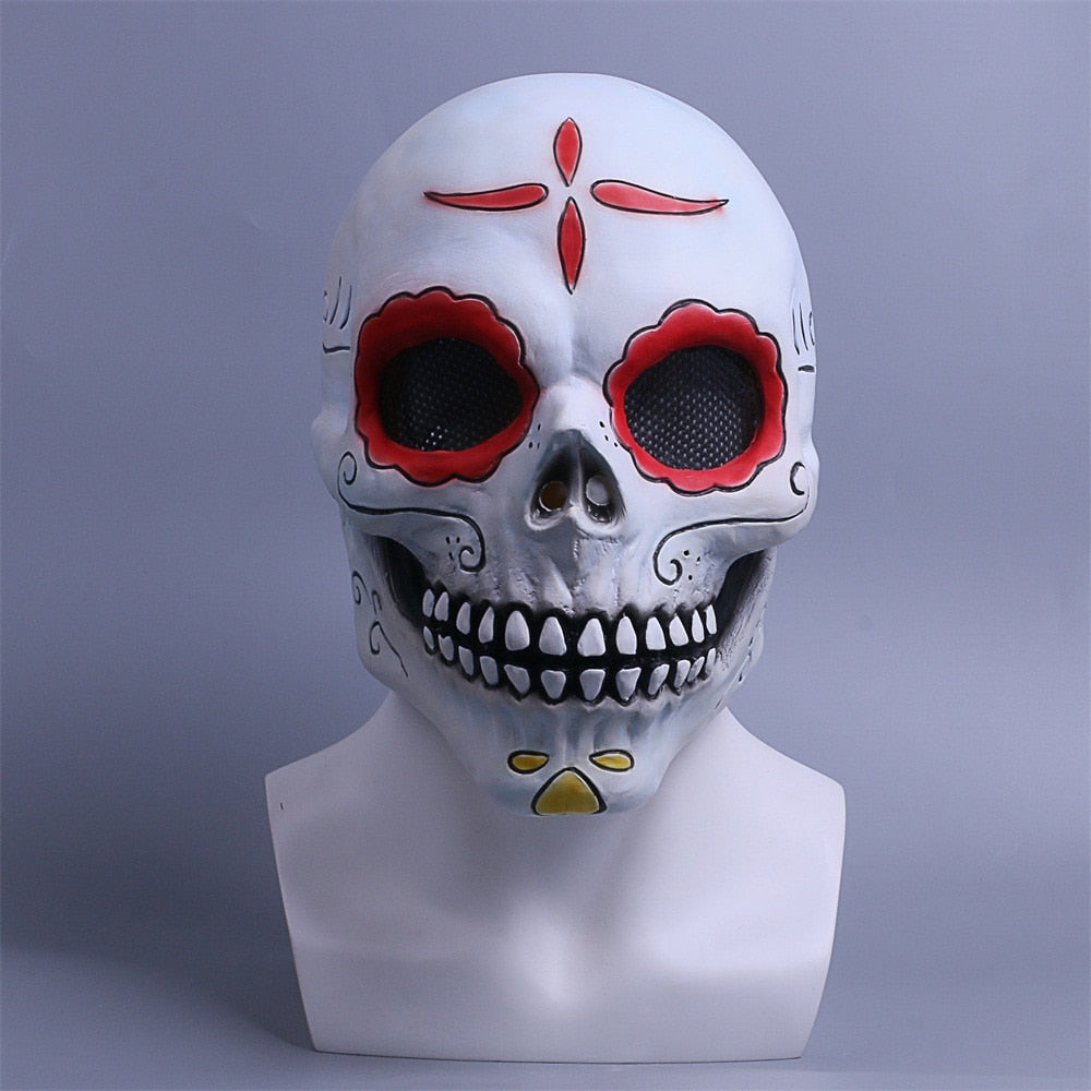 Day of the Dead Mask Cosplay Fancy Dress Halloween Mask Skull Horror Scary Mask