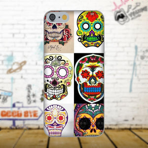 Diwqxr Colorful Mexican Sugar Skull Soft Coque Case For Apple iPhone 4 4S 5 5C SE 6 6S 7 8 Plus X For LG G4 G5 G6 K4 K7 K8 K10