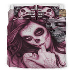 Bedding Sets  3D Digital Printing Skull Bedding Set Duvet Cover 100% Microfiber
