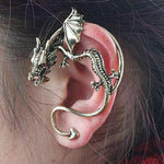 Punk Style Dragon Clip Earrings For Women Men Vintage Gold Silver Color Ear Cuff Statement Ear Jewelry Exquisite Gift