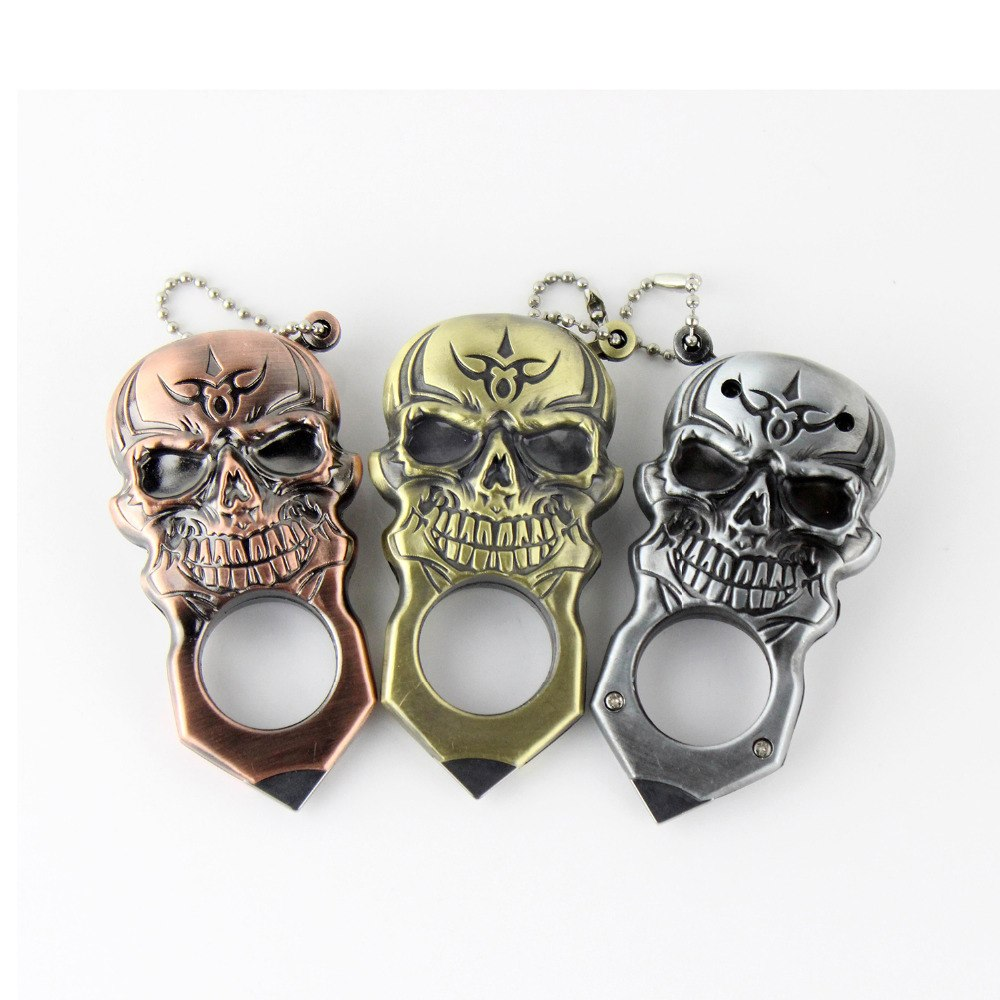 3 Colors!! Cool Skull Style Pocket Metal Cigar Cigarette Lighter