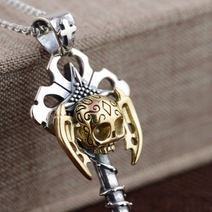 925 Silver Skull Pendant 100% Pure S925 Solid Silver Cross Pendants for Men Jewelry Making