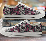 Sugar Skull Sneakers Print Punk Style Vulcanized Shoes