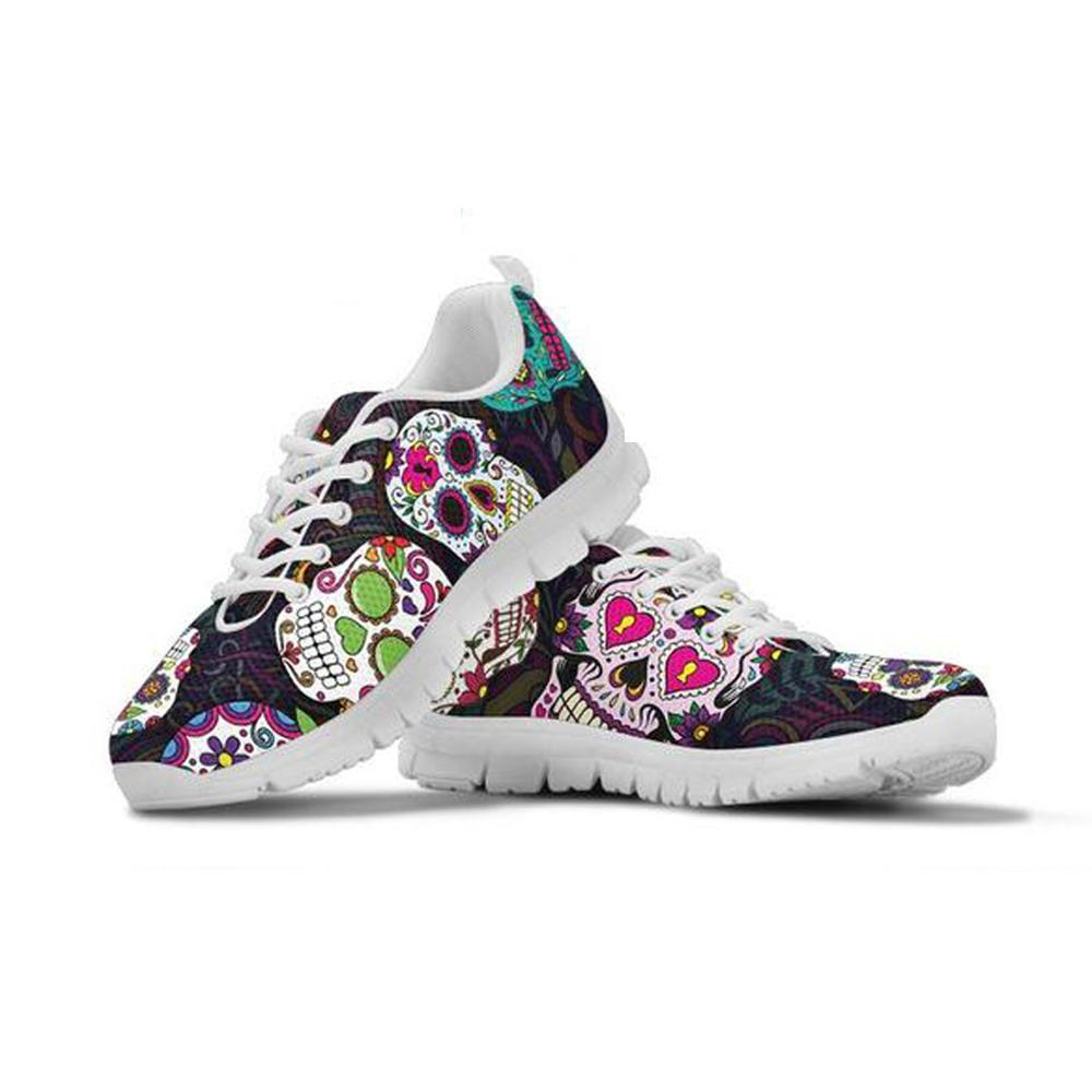 Sugar Skulls Women's 3D Print Sneakers Women Flats Shoes