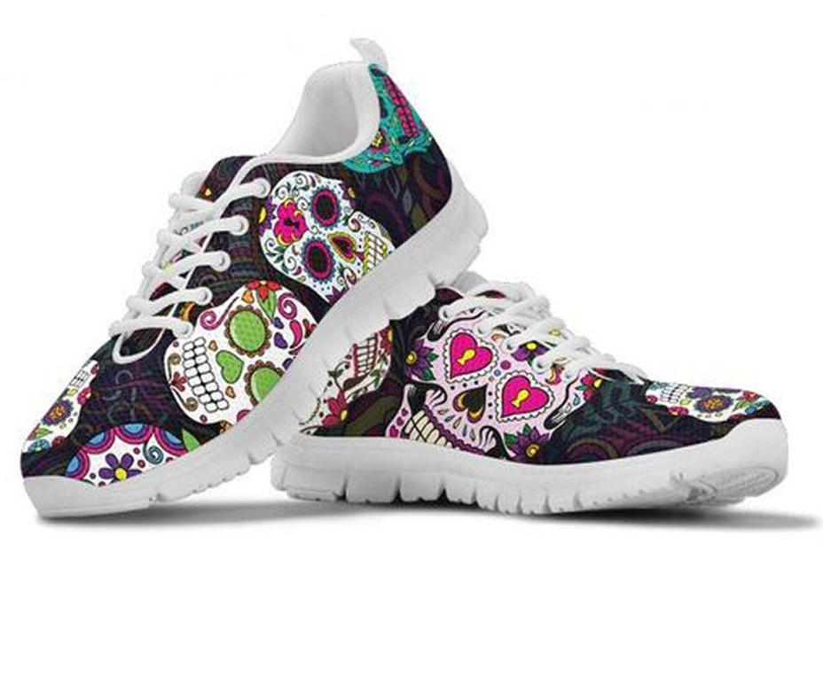 Sugar Skulls  Women Shoes Flats Sneakers