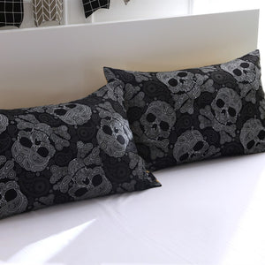 3pcs Bedding Set King size Bohemian skull Print Duvet Cover set with pillowcase AU Queen Bed best gift bedline