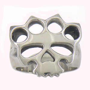 Fanssteel Stainless steel jewelry handcuffs skull outlaw biker Ring