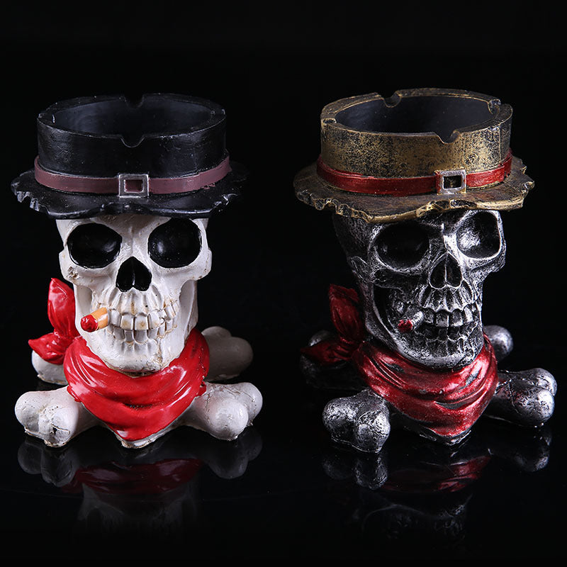 Fashion Skull Ashtray Large Belt Lid Personalized Resin Ashtray