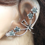 Flowers petal Ear Cuff cobra Ear Cuff GLOW in the DARK flower opening Ear clip earrings Clip Earrings WOMEN