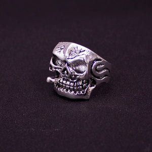 Mixed10pcs Top-quality Gothic Punk Assorted Wholesale Lots Skull Style Bikers Men's Vintage Tibetan Silver Rings