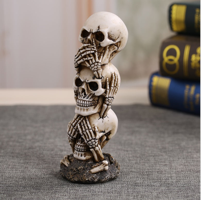 Resin Craft Human Skull Statue High Quality Creative Statue Sculpture Gift Home Decoration Human Skull