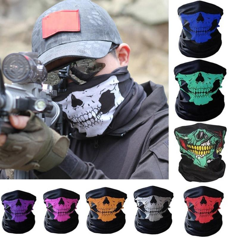 Full Face Motorcycle Face Shield winter Balaclava Face Mask Ghost Tactical Mask 3D Skull Sport Mask Neck Warm Windproof Outdoor|Motorcycle Face Mask