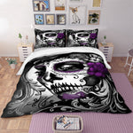 Gothic skull print Bedding Set Twin Full Queen King Super King All Sizes