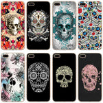 Sugar Skull Transparent Hard Thin Case Cover For Apple iPhone
