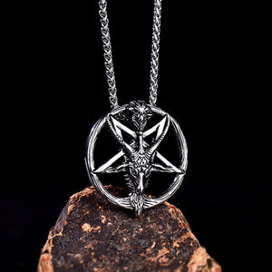 Baphomet Satan Necklace Satanic Jewelry Stainless Steel