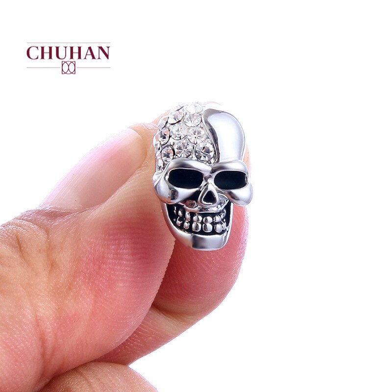 New Punk Gold Unisex Skull Head Stud Earring