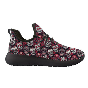 Zapatos Mujer Suger Skull Printing Knitting Sneakers Women Flat Shoes