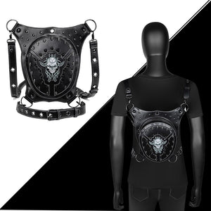 Punk Gothic Rivets Motorcycle Skull Bag Women Men Steampunk
