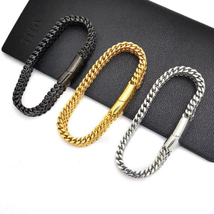 gold chain on hand men bracelets on hand stainless steel