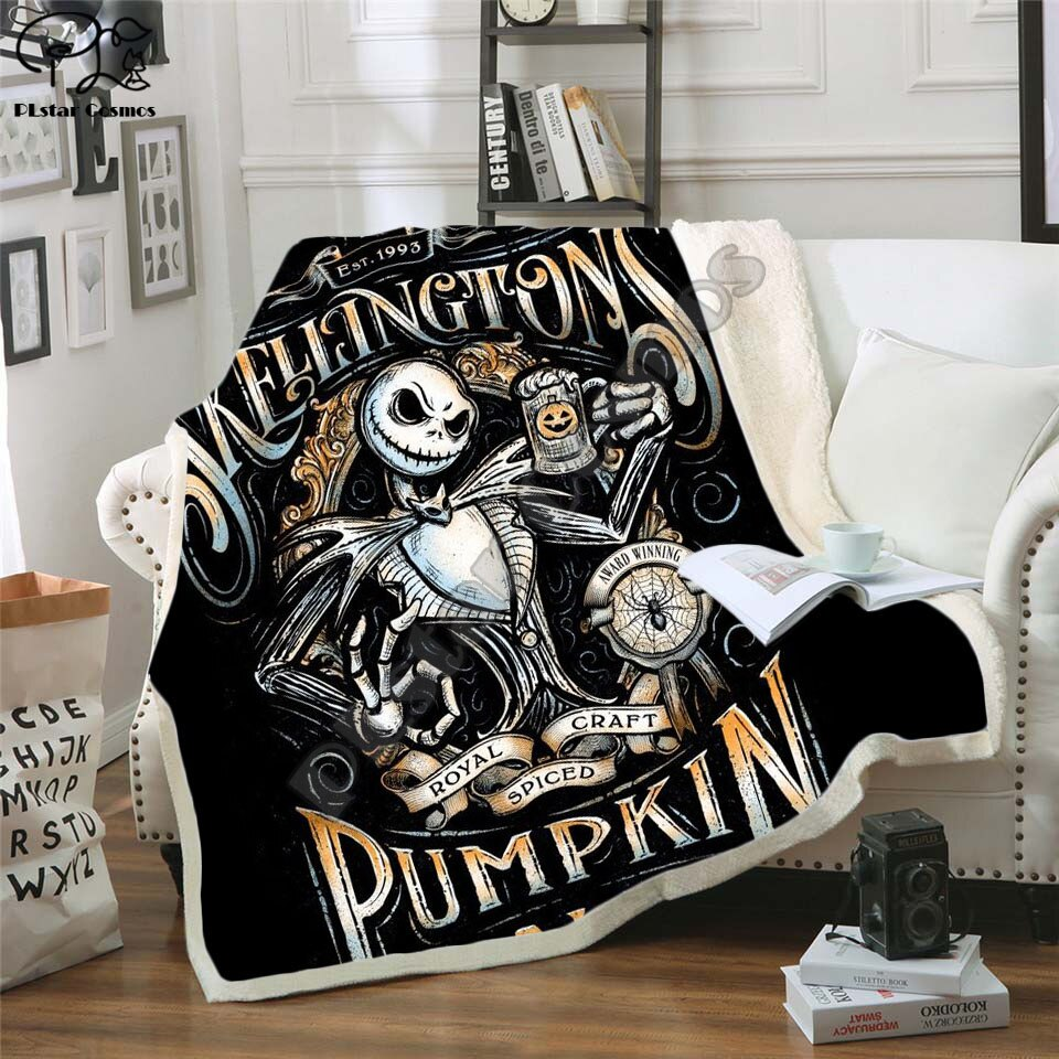 The Nightmare Before Christmas Jack Skull Sherpa Blanket
