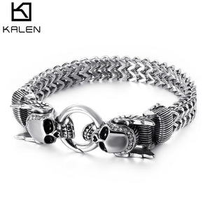 New Stainless Steel 23cm Chunky Mesh Chain Bracelet