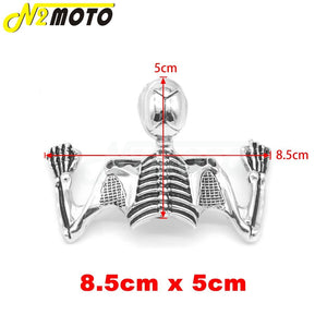 Chrome Highway Hawk Skull Ornament Visor For Harley Softail Bobber Chopper