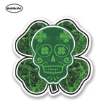 Irish Lucky Clover Sugar Skull Car Sticker Graffiti Surfing Skateboarding Decal Graphic Vinyl Car Styling