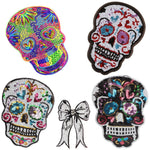 1PCS Hot Big Patches Shine Sequin 3D Sticker Stickers Wings Rose Embroidery Motif Applique Garment Kids Women