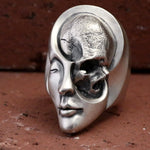 Unique Design Human Duality Hide Yin and Yang Skull Rings